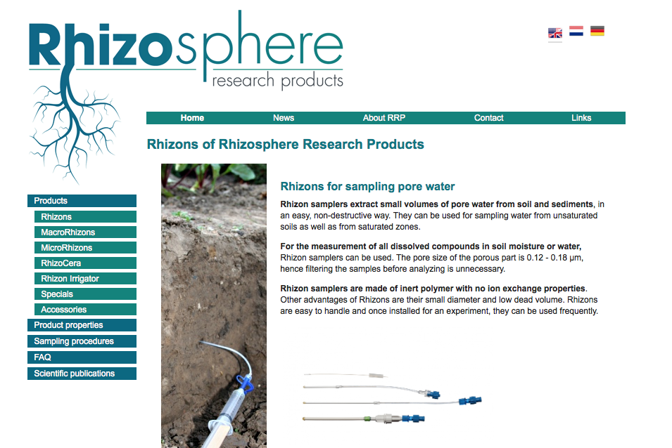 website Rhizosphere Research Products
